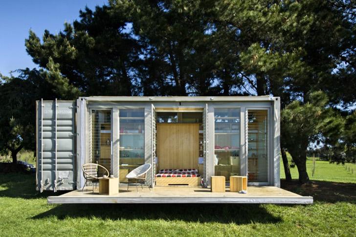 ngôi nhà nhỏ bằng container 20feet có thể di chuyển
