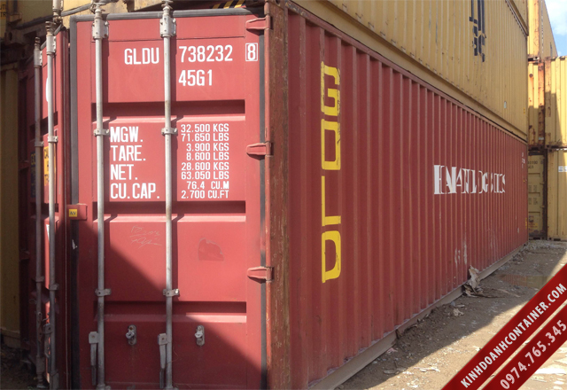container khô 40 feet cũ