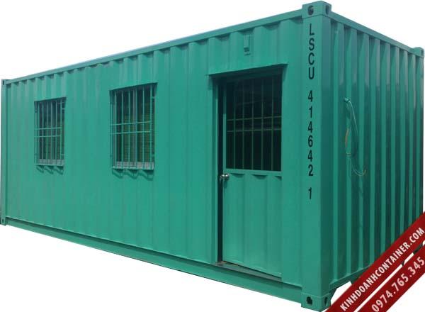 container văn phòng sơn màu xanh nhạt