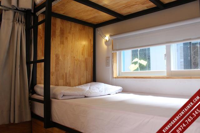 khách sạn container - giường ngủ