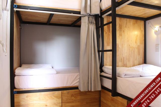 khách sạn container - cabin phòng ngủ