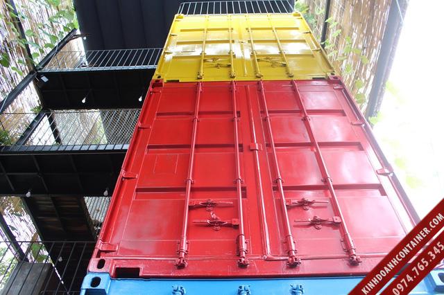 khách sạn container - thiết kế 3 khối cứng