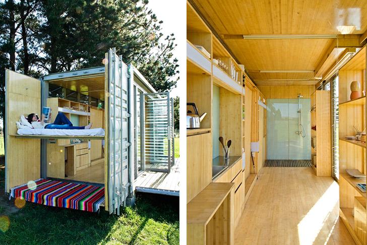 ngôi nhà container xinh xắn tiện nghi