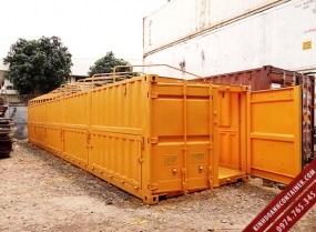 container khoo 40 feet mở nóc và mở bửng