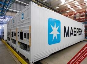 container lạnh 40 feet dùng máy điện làm kho