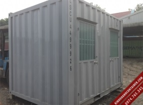 container nhà vệ sinh 10 feet - mặt trước